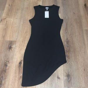 Black Sexy Cut Up Dress